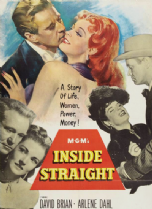Inside Straight 1951 DVD - David Brian / Arlene Dahl